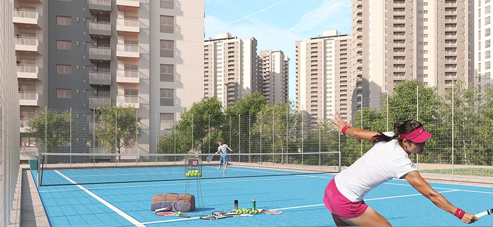 Complejo Ciudad Gama - amenities - cancha de tenis