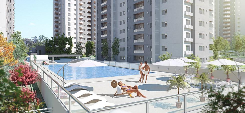 Complejo Ciudad Gama - amenities - 5 piscinas descubiertas